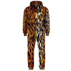 Animal Print Abstract  Hooded Jumpsuit (men)