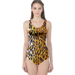 Animal Print Abstract  Women s One Piece Swimsuits