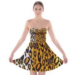 Animal print Abstract  Strapless Bra Top Dress