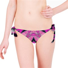 Pink Black Abstract  Bikini Bottoms