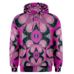 Pink Black Abstract  Men s Pullover Hoodies