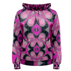 Pink Black Abstract  Women s Pullover Hoodies