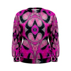 Pink Black Abstract  Women s Sweatshirts