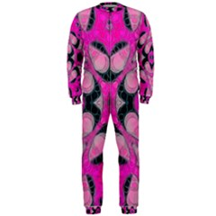 Pink Black Abstract  Onepiece Jumpsuit (men)