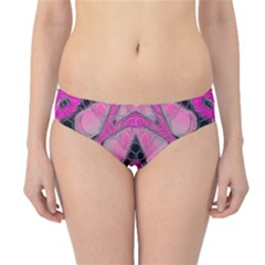 Pink Black Abstract  Hipster Bikini Bottoms