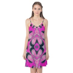 Pink Black Abstract  Camis Nightgown