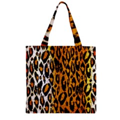 Cheetah Abstract Pattern  Zipper Grocery Tote Bags