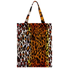 Cheetah Abstract Pattern  Zipper Classic Tote Bags