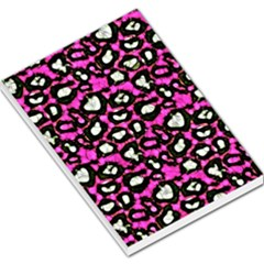 Pink Black Cheetah Abstract  Large Memo Pads