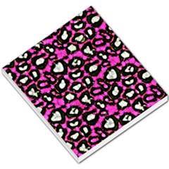 Pink Black Cheetah Abstract  Small Memo Pads