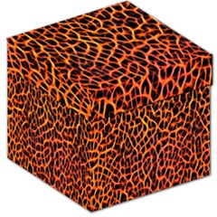 Lava Abstract Pattern  Storage Stool 12