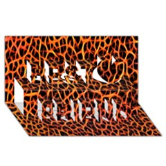 Lava Abstract Pattern  Best Friends 3D Greeting Card (8x4)