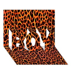 Lava Abstract Pattern  Boy 3d Greeting Card (7x5)
