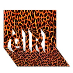 Lava Abstract Pattern  GIRL 3D Greeting Card (7x5)