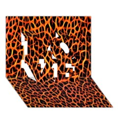Lava Abstract Pattern  LOVE 3D Greeting Card (7x5)