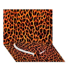Lava Abstract Pattern  Heart Bottom 3d Greeting Card (7x5)