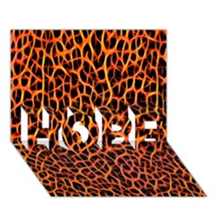 Lava Abstract Pattern  Hope 3d Greeting Card (7x5)