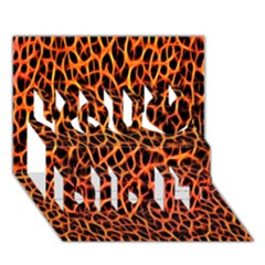 Lava Abstract Pattern  You Did It 3d Greeting Card (7x5)