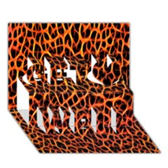 Lava Abstract Pattern  Get Well 3D Greeting Card (7x5)