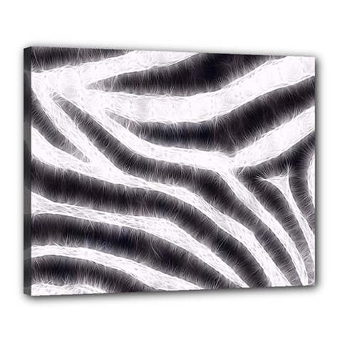 Black&white Zebra Abstract Pattern  Canvas 20  X 16