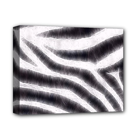 Black&white Zebra Abstract Pattern  Deluxe Canvas 14  X 11