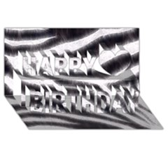 Black&white Zebra Abstract Pattern  Happy Birthday 3d Greeting Card (8x4)