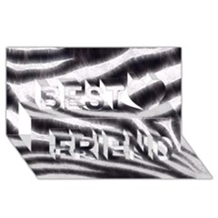 Black&white Zebra Abstract Pattern  Best Friends 3d Greeting Card (8x4)