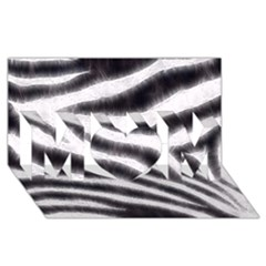 Black&white Zebra Abstract Pattern  Mom 3d Greeting Card (8x4)