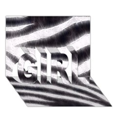 Black&White Zebra Abstract Pattern  GIRL 3D Greeting Card (7x5)
