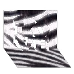 Black&white Zebra Abstract Pattern  Love 3d Greeting Card (7x5)