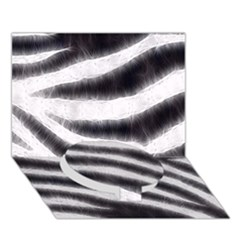 Black&white Zebra Abstract Pattern  Circle Bottom 3d Greeting Card (7x5)