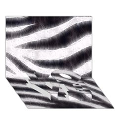 Black&white Zebra Abstract Pattern  Love Bottom 3d Greeting Card (7x5)