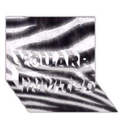 Black&white Zebra Abstract Pattern  You Are Invited 3d Greeting Card (7x5)