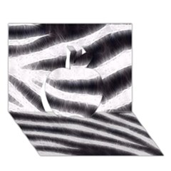 Black&White Zebra Abstract Pattern  Apple 3D Greeting Card (7x5)