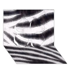 Black&White Zebra Abstract Pattern  Clover 3D Greeting Card (7x5)