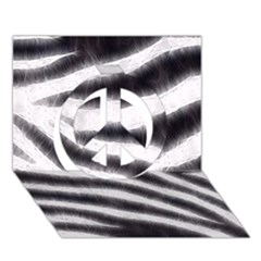 Black&white Zebra Abstract Pattern  Peace Sign 3d Greeting Card (7x5)