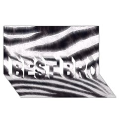 Black&White Zebra Abstract Pattern  BEST BRO 3D Greeting Card (8x4)