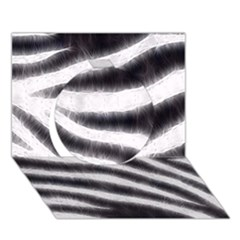 Black&White Zebra Abstract Pattern  Circle 3D Greeting Card (7x5)