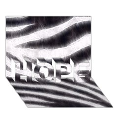Black&white Zebra Abstract Pattern  Hope 3d Greeting Card (7x5)