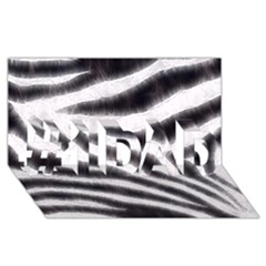 Black&white Zebra Abstract Pattern  #1 Dad 3d Greeting Card (8x4)