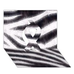 Black&White Zebra Abstract Pattern  Ribbon 3D Greeting Card (7x5)