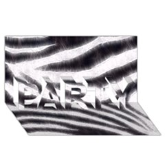Black&White Zebra Abstract Pattern  PARTY 3D Greeting Card (8x4)