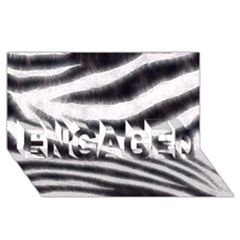 Black&white Zebra Abstract Pattern  Engaged 3d Greeting Card (8x4)