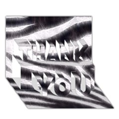 Black&White Zebra Abstract Pattern  THANK YOU 3D Greeting Card (7x5)