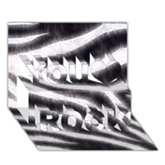 Black&white Zebra Abstract Pattern  You Rock 3d Greeting Card (7x5)