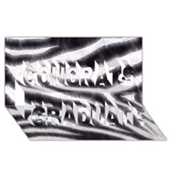Black&White Zebra Abstract Pattern  Congrats Graduate 3D Greeting Card (8x4)