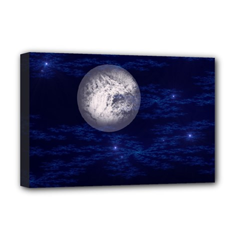 Moon and Stars Deluxe Canvas 18  x 12
