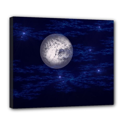 Moon and Stars Deluxe Canvas 24  x 20