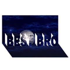 Moon and Stars BEST BRO 3D Greeting Card (8x4)
