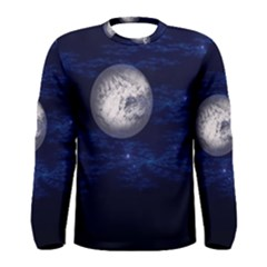 Moon and Stars Men s Long Sleeve T-shirts
